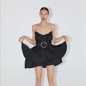 NWT Zara black asymmetrical dress